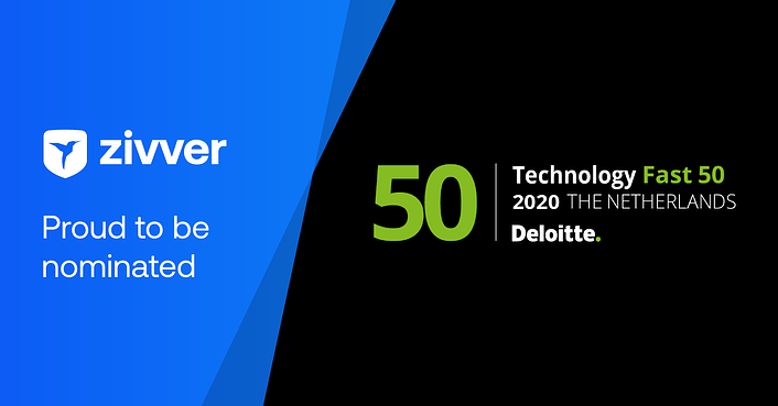 Zivver genomineerd voor Deloitte Technology Fast 50