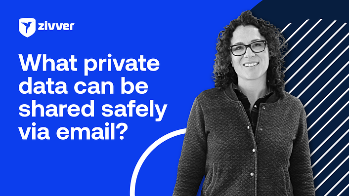 What private information can you share securely via email?