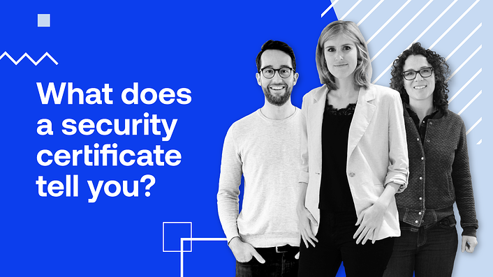 What does a security certificate tell you?