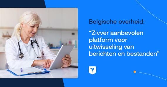 Belgische overheid selecteert Zivver als 'aanbevolen platform' voor zorgcommunicatie