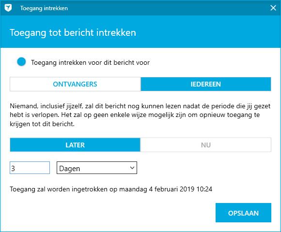 Gebruikerstip: Laat een bericht automatisch vervallen