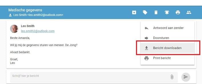 Gebruikerstip: Download berichten