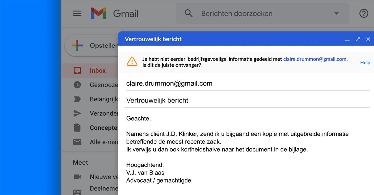 Press release: Zivver lanceert extensie voor Gmail