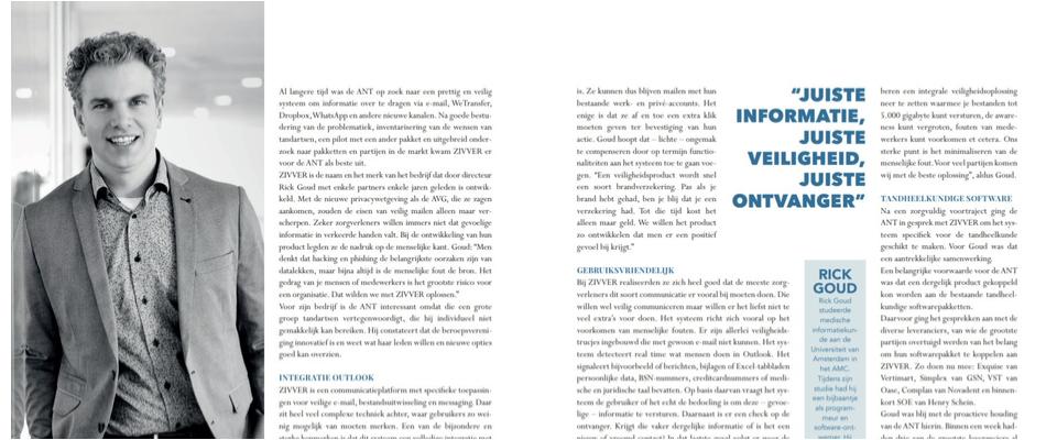 Dentz Magazine: Veilige en gebruiksvriendelijke communicatie