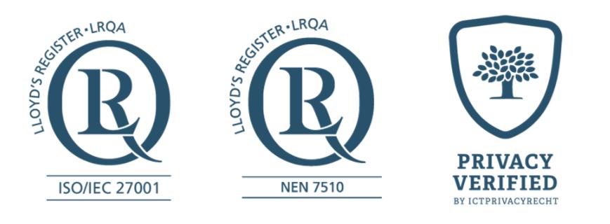 Hercertificering ISO 27001, NEN7510 en Privacy Verified