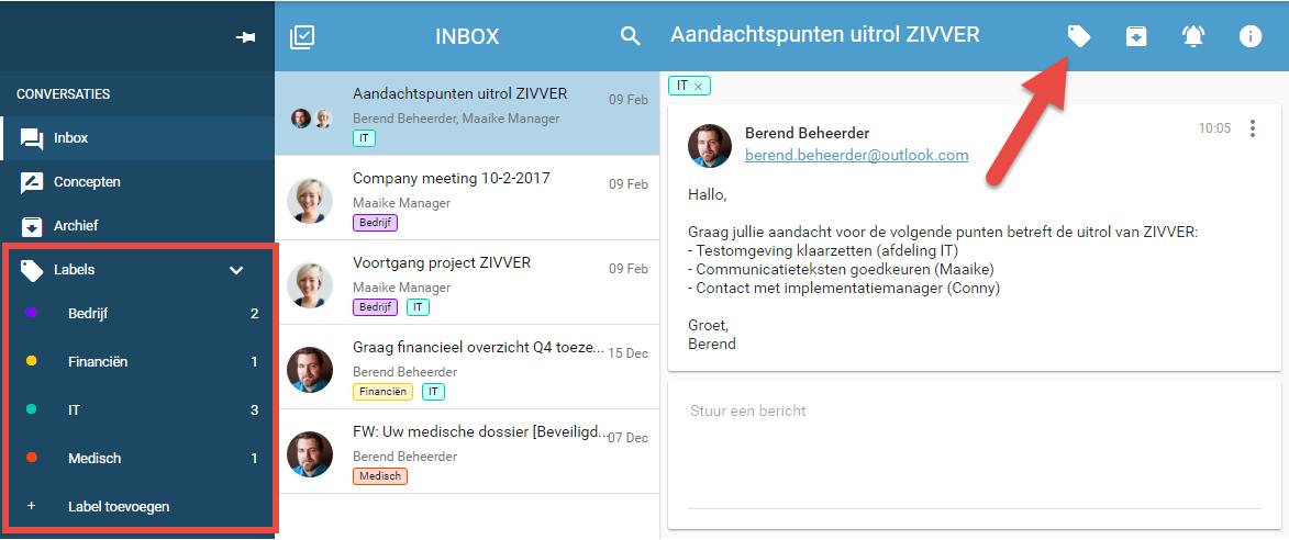 Gebruikerstip: Organiseer je berichtenbox met labels!